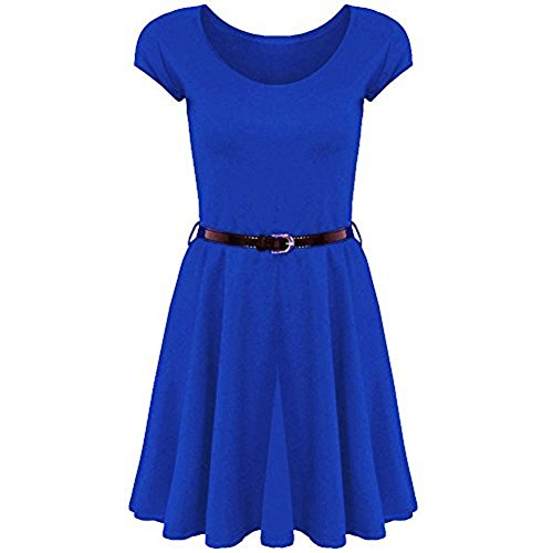 Belted Petite-shorts (Fashion 4 Less Damen Skater Kleid)