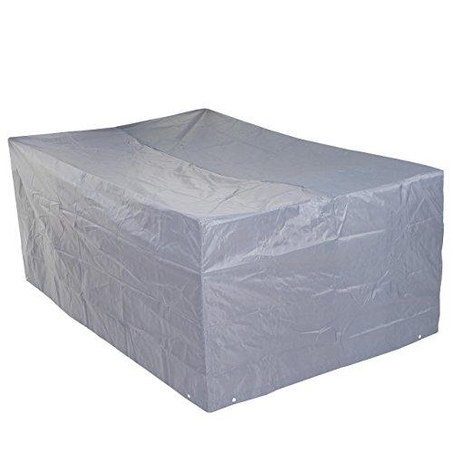 Mendler Abdeckplane Abdeckhaube Schutzplane Schutzhülle für Garnituren, Grau ~ 75x180x120cm