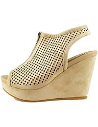 Francesco Milano Zapatos Elegantes Mujer Beige Cuero AG514 (35 EU) jjxRHKyFmn