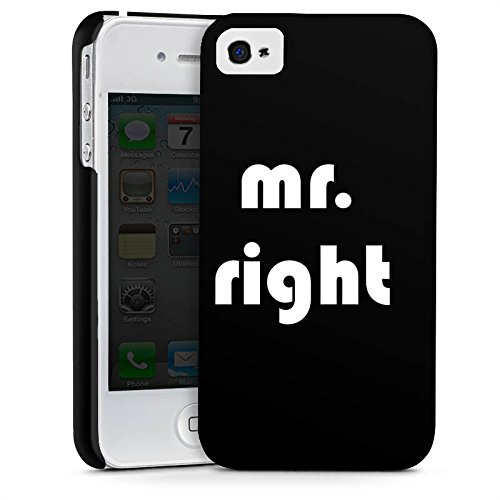 Apple iPhone X Silikon Hülle Case Schutzhülle Liebe Mr Right Love Premium Case glänzend