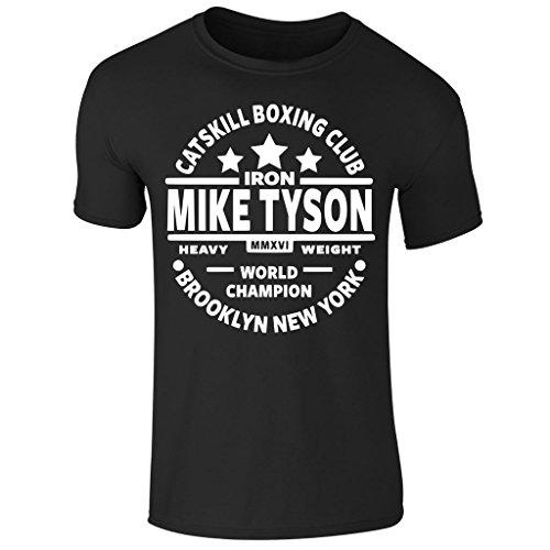 Men's Iron Mike Tyson Catskill Boxing Club Heavyweight Champ Short Sleeve T Shirt UK Size S-XXl (X-Large) Black (Champs-xl T-shirt)
