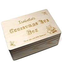 Crafty Gift Company Christmas Eve Box Personalised - Large wooden box complete with Santa Key