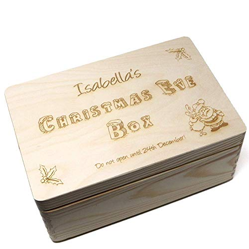 Crafty Gift Company Christmas Eve Box Personalised Large Wooden