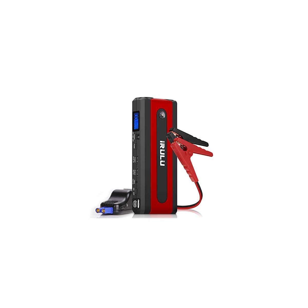 41WaOsMYlPL. SS1200  - Arrancador de emergencia para automóvil (hasta 6 litros de gasolina, motor diesel de 4,5 litros) iRULU 600A Pico 13600mAh Portátil portátil Batería de batería Batería