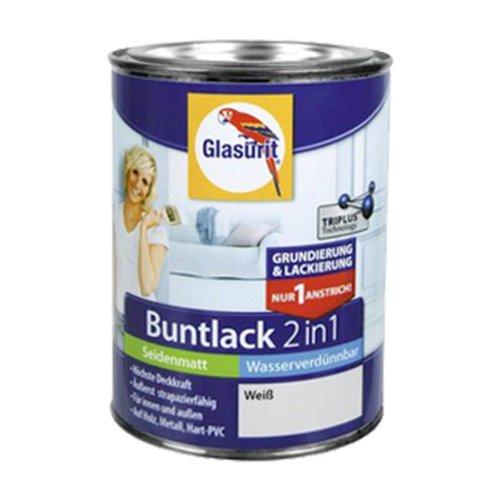 Glasurit Buntlack 2in1 Seidenmatt Wasserverdünnbar 500ml (Mauritiusblau) [Misc.]