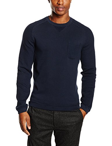 BOSS Green Herren Pullover Reight Blau (Navy 410)