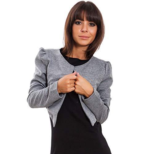 043473156be0 Toocool - Coprispalle Donna Giacca Bolero Elegante Basic Maniche Lunghe  Corto VB-10099  Taglia