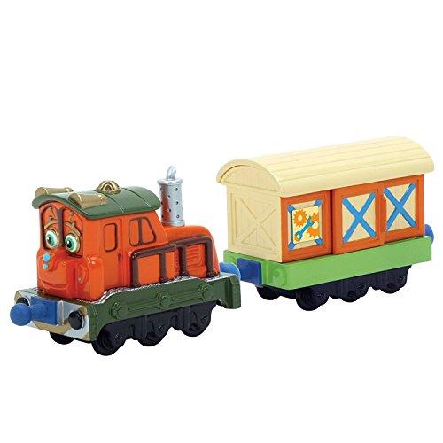 Lamaze  Chuggington StackTrack LC54005 - Kelly mit Güterwagen, detailgetreue, robuste und farbenfrohe Diecast-Lokomotive