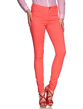 VERO MODA Damen Hose 10093296 WONDER NW NEON JEGGING Skinny Slim Fit (Röhre) Normaler Bund