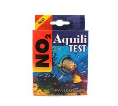 Aquili Test NO2 - Kit per la misurazione dei nitriti in acquario dolce o marino e laghetto, con reagente
