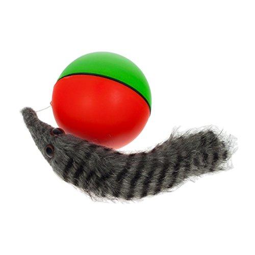 Smartfox Wieselball Squirrelball Weasel Ball Spielzeug Fangspiel für Hunde und Katzen