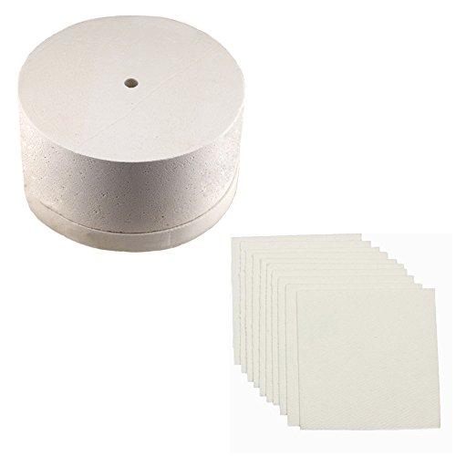10hojas papel horno horno microondas cristal fusión