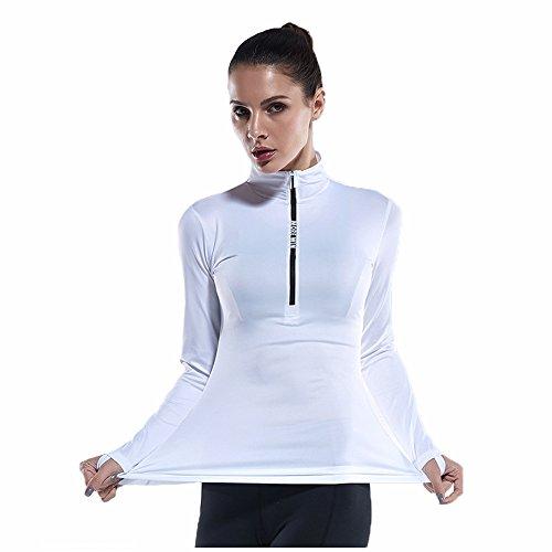 euow Maglia sportiva - donna Bianco
