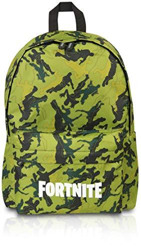 Fortnite Rucksack Für Die Schule Kinder | Rucksack Schultasche mit Logo | Schulrucksack Jungen | Offiziellen Merchandise-Produkte von Fortnite Llama, Camouflage | Video-Gamer-Geschenke (Grun Camo) -