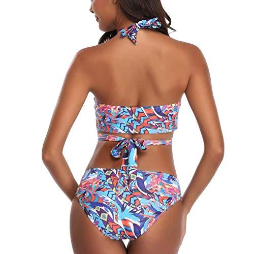 CAIjj Frauen Badeanzug Halter Push up Tops Boyshort Bikini Set Zweiteiler Badeanzug Bademode Beachwear,Weiß,5 * -Groß -