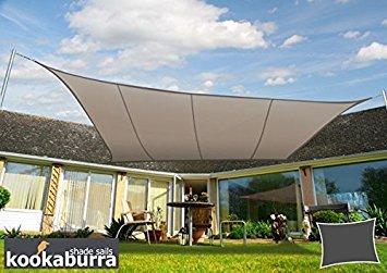 Kookaburra Voile d'Ombrage Imperméable 3,0m × 2,0m Rectangle Taupe