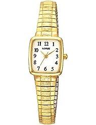 Lorus–Reloj de pulsera analógico para mujer cuarzo, revestimiento de acero inoxidable RPH56AX9