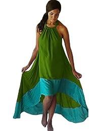 LOTUSTRADERS Damen Kleid Träger Asym