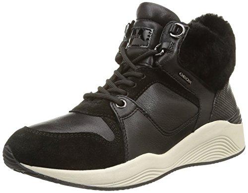 GeoxD Omaya E - Pantofole a Stivaletto Donna , Nero (Noir (C9999/Vit Liscio/Agnello)), 39
