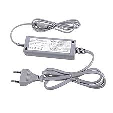 WINOMO EU prise AC Power adaptateur chargeur câble de charge pour Nintendo Wii U Gamepad (gris)