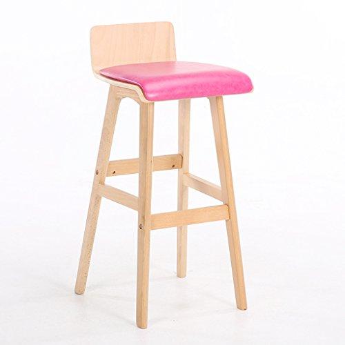 a6ee5550deb4e Zaixi Coussin Huile-cire-cuir + Éponge Chaise De Bar Bois Massif  Minimaliste Moderne
