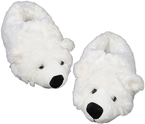 Hausschuh-Pantoffel-Eisbr-Teddybr-Gre-29-30-31-32-Plschhausschuh-super-weich-Tier-Tiere-fr-Kinder-Erwachsene-Teddy-Br-Hausschuhe-extra-warm-Teddybr-Zootier-Winter-Schuhe-Zoo-Gr