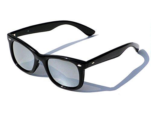 Preisvergleich Produktbild Tedd Haze Wayfarer Brille schwarz verspiegelt incl. Brillen Beutel