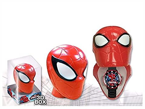 Montre analogique dans Boîte 3D Spiderman
