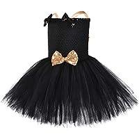 YCWY Ballet Falda del tutú de Las niñas, Trajes de la Etapa del Partido Grupo de Danza Fotografía Minnie Mouse Vestidos en Capas Vestido de la Princesa con Diadema,Negro,XL