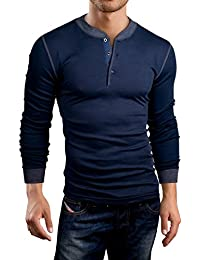 Grin&Bear Slim Fit Henley T-Shirt, GB145