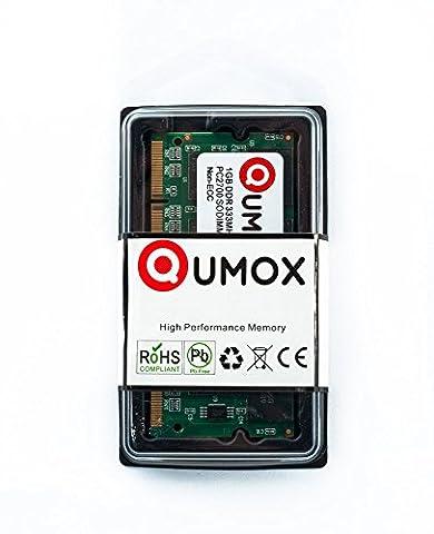 QUMOX 1Go DDR (200 broches) 333Mhz DDR333 PC2700 SODIMM mémoire d'ordinateur portable