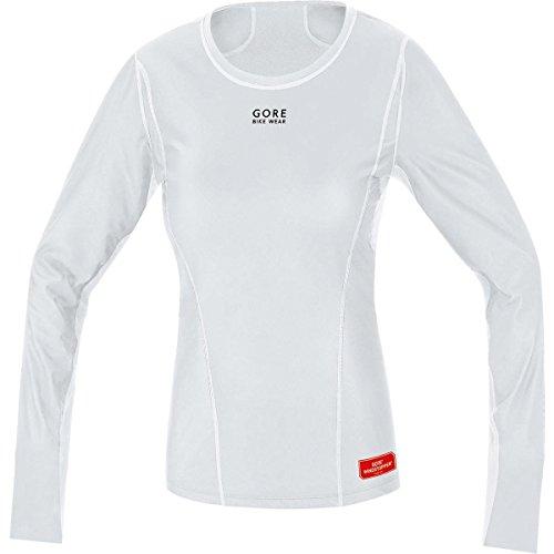 GORE WEAR Damen Teamtrikot Base Layer Windstopper Thermo Shirt Long Trikots & Teamtrikots, Hellgrau/Weiß, 36