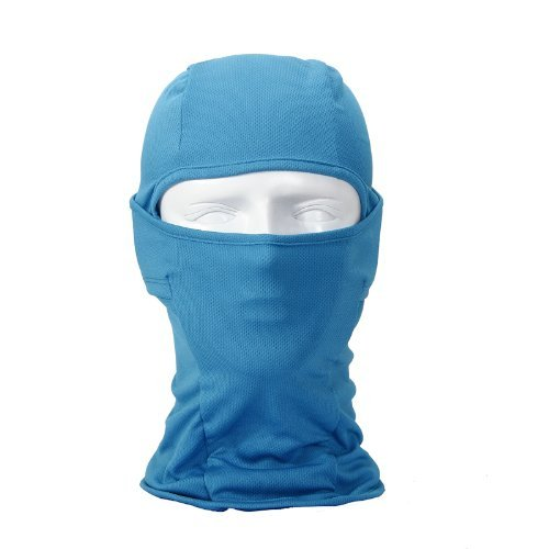 Le Gear Face Mask Pro+ for Bike, Ski, Cycling, Running, Hiking - Protects From Wind, Sun, Dust - 4 Way Stretch - #1 Rated Face Protection Mask (Sky Blue)