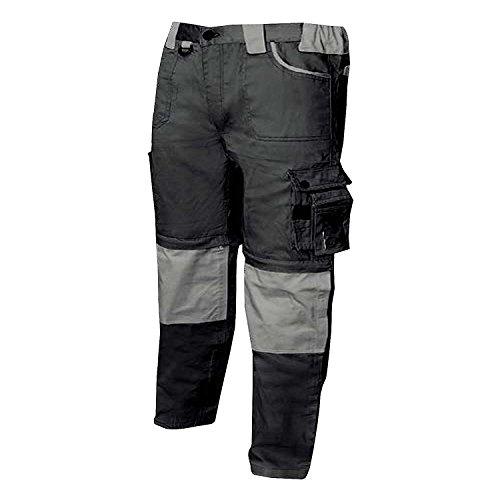 MISEMIYA - Pantaloni di Lavoro Multi-Tasche con Zip Uniforme Industriale Laboratorio Meccanico Tecnico Idraulico Muratore - Ref.877 - S, Nero
