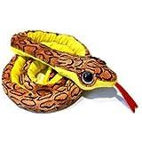 Peluche Serpiente camuflaje color marron ojos brillantes 180cm largo - Calidad soft