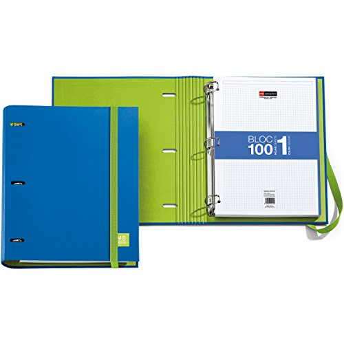 miquel-rius-3ring-refillable-binder-and-100-sheets-of-paper-blue-acrylic-multicoloured