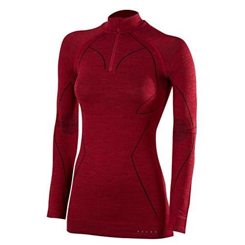 41WaYDA2B4L. SS500  - FALKE Women's Women Long Sleeved Zip Shirt Wool-tech Longsleeve Shirt
