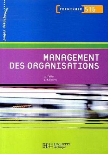 Management des organisations Tle STG