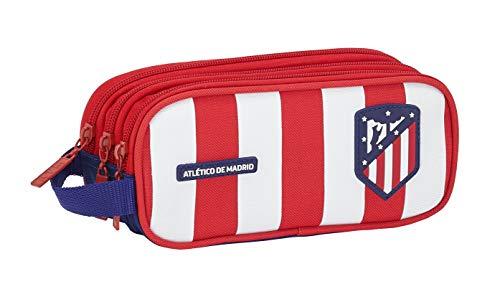 Estuche Atlético Madrid Oficial Triple Cremallera