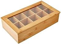 Kesper 58901 Boîte pour Thé avec 10 Compartiments Bambou Brun 36 x 20 x 9 cm