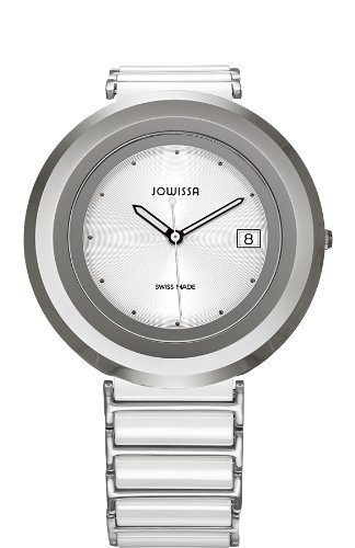 Jowissa J6.002.L - Reloj analógico de cuarzo para mujer con correa de cerámica, color blanco