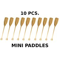 Wooden Pine Mahogany Mini Paddle - excellent Gift for Sailers Canoeists Kayakers Rafters etc. x 10