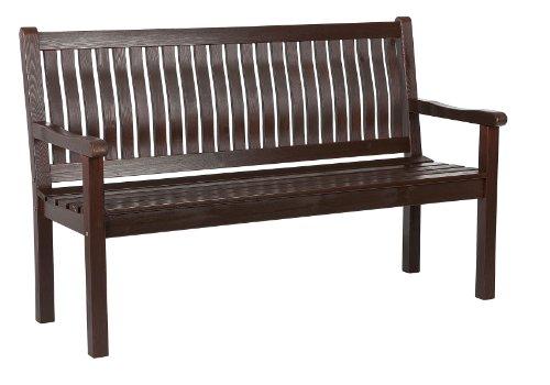 Impag 3-Sitzer Gartenbank Parkbank Kiefer Massivholz Palisander lackiert BP