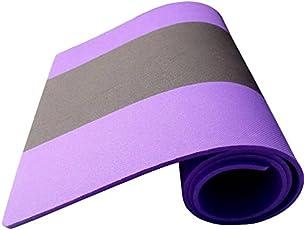 AEROLITE Premium Striped Yoga/Fitness Mat (6.5mm, Purple, Grey)
