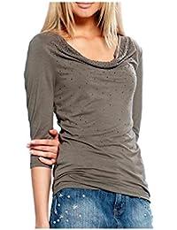 APART Fashion - T-shirt - Opaque - Femme Multicolore Kaki