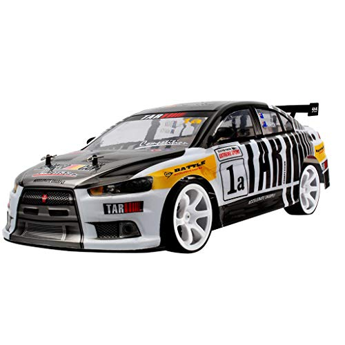 HappySDH RC Car Ferngesteuertes Auto 1/10 4WD originalgetreue Karosserie Electric Racing Drift Auto High Speed Racer 70km/h Auto für Kinder,2 Batterien (Schwarz)