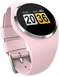 CYGGJ Bluetooth Reloj Inteligente con Pantalla táctil, Q1 Mujeres Impermeable Bluetooth Fitness Tracker Pulsera Inteligente para Android iPhone Hombres Mujeres Niños