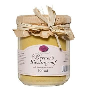 Gourmet Berner *Riesling Senf* Senf-Spezialität im 190ml Glas