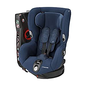 Maxi-Cosi Axiss Toddler Car Seat Group 1, Swivel Car Seat, 9 Months-4 Years, Nomad Blue, 9-18 kg Children's Beds Home Bed with barriers - Internal Dimensions 140x70 160x80 180x80 Bed frame with load capacity of 120 kg, Fittings + installation instructions Universal bed entrance - right or left side, front barrier can be removed at later stage. 4