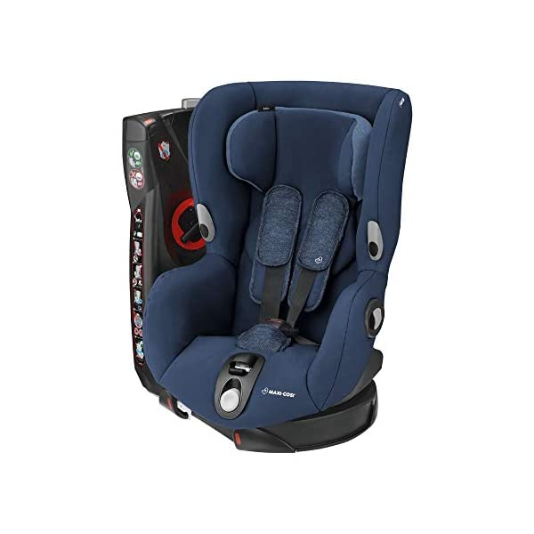 Maxi-Cosi Axiss Toddler Car Seat Group 1, Swivel Car Seat, 9 Months-4 Years, Nomad Blue, 9-18 kg Maxi-Cosi Toddler car seat, suitable from 9 months to 4 years (9 - 18 kg) Swivels 90 degree degrees allows for front-on access to get your toddler in and out of the car more easily Maxi-Cosi Axiss car seat has 8 comfortable recline positions 1